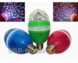 Акция! Три диско лампы для праздничного освещения Full color rotating lamp