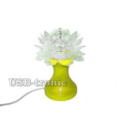 "Светодиодная диско лампа ""Цветок"" на подставке."