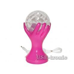 """Цветомузыкальная LED диско лампа """"SVET"""". Розовый корпус."""