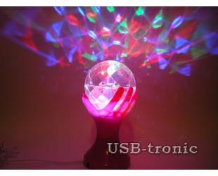 Цветомузыкальная Led диско лампа с проводом для праздников и вечеринок
