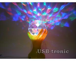 Многоцветная диско-лампа для детских праздников и домашних вечеринок