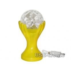 """Яркая диско лампа """"SVET""""  для вечеринок. Желтый корпус."""