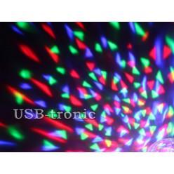 Светодиодная цветомузыка диско лампа