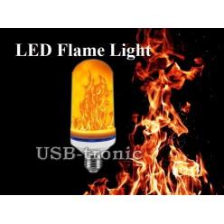 Светодиодная лампа Led Flame Light с эффектом пламени 3D