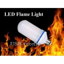 """Светодиодная лампа """"Мерцающий огонь"""" на подставке с проводом"""