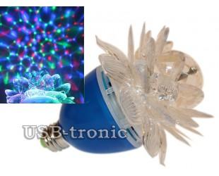 Диско лампочка цветок в синем копусе