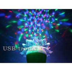 Акция! Три диско лампы в форме цветка