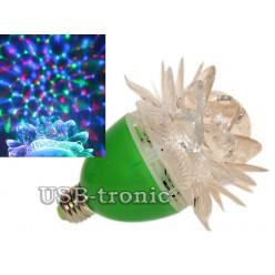 Диско лампочка цветок RGB Зеленый корпус