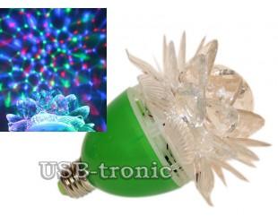 Диско лампочка цветок RGB