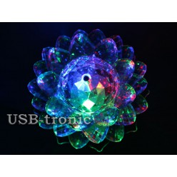 LED лампочка цветок трехцветная