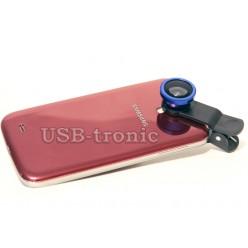 Набор объективов для телефона - синий