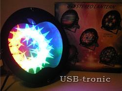 Яркая 3D цветомузыка Apple Звезды