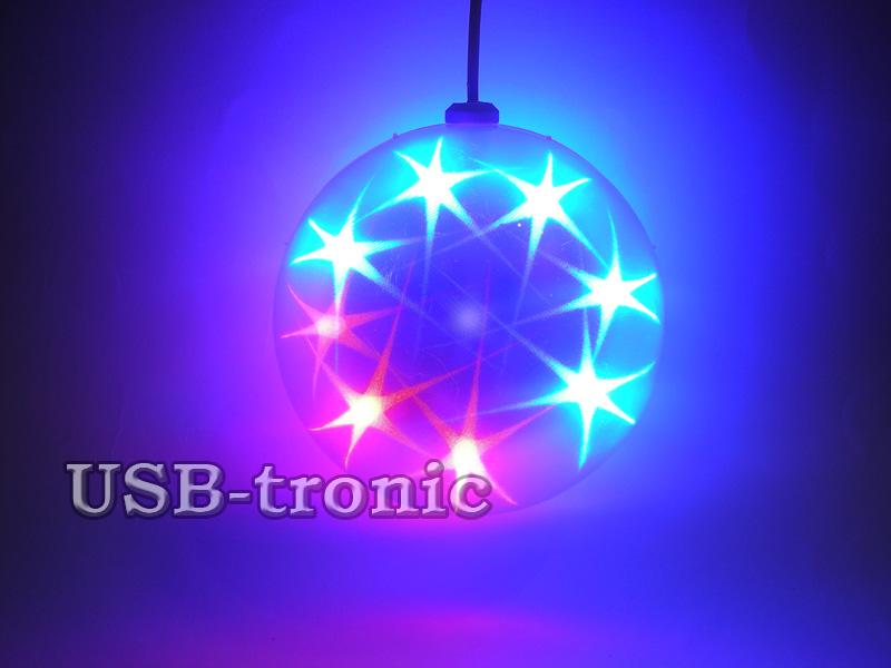 3D новогодняя шар гирлянда 14 см
