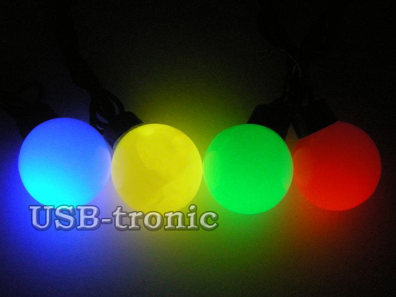 """Светодиодная гирлянда """"Цветные шарики 4см"""" 20 шт 5 метров"""