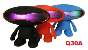 """Bluetooth колонка """"Человечек Rugby Q30A"""" с  цветомузыкой и мп3 плеером."""