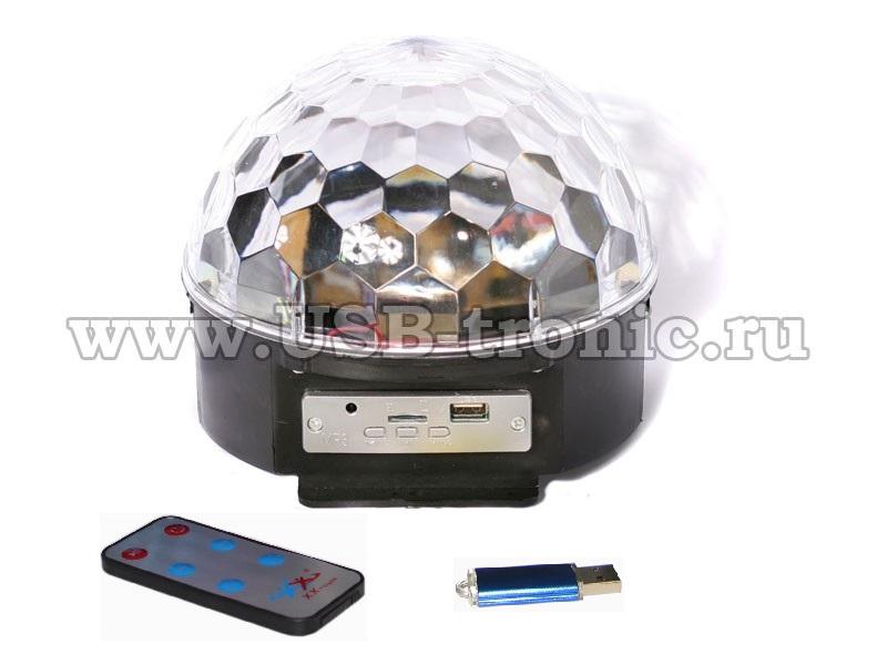 Диско шар с блютуз и USB  МП3