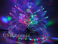 Вращающаяся диско лампа led sunflower led light цена 999 руб.