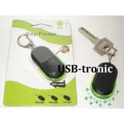 Брелок свисток для поиска ключей с зеленой Led подсветкой