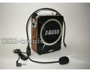 Громкоговоритель поясной c FM радио и mp3  JR-9916U