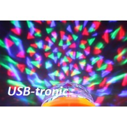 Цветомузыкальная диско лампа