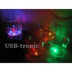 Набор светящихся стаканов для виски 4 шт