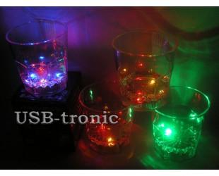 Набор Cветящиеся стаканы для виски 4 штуки