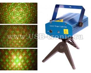 """Лазерный проектор для домашних дискотек """"Звездопад"""" XY-05"""