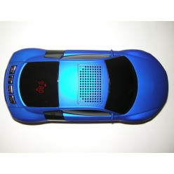 """Магнитола """"Машинка"""" бумбокс с радио и mp3 синяя"""