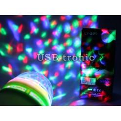 Светодиодная диско лампа цветомузыка с переходником