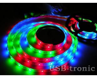 RGB LED лента  5 метров с ПДУ