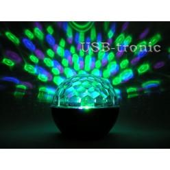 """Диско-шар  """"Сфера"""" с аккумулятором и MP3 (5 цветов) - черный корпус Нет в наличии"""