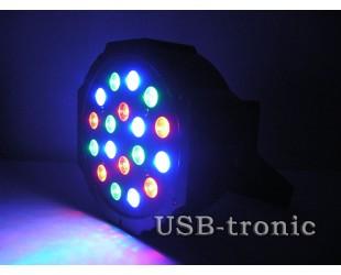 Цветной светодиодный стробоскоп для дискотеки 18 Led Flat Par Light AB-29