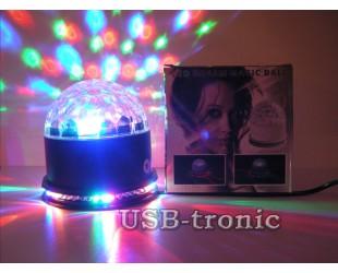 """Диско шар """"LED Crystral Magic Ball Light"""" со светодиодным кольцом"""