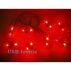 3D гирлянда светодиодная Ceiling Colourful Star Light 8 шаров 5 см