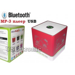 Портативная колонка Hello Kitty с USB и Вluetooth KH-105 Red
