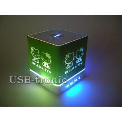 Портативная колонка Hello Kitty с USB и Вluetooth KH-105 Зеленая