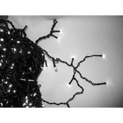 Уличная гирлянда 25 метров Светодиодная белая бахрома 30-45-60 см Черный кабель