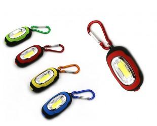 Мини фонарик-брелок с карабином и магнитом