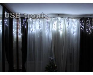 """Мерцающая гирлянда """"Бахрома Фейерверк"""" 3 метра 500 LED (Белый цвет)"""
