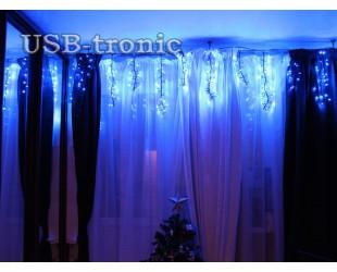"Гирлянда ""Бахрома"" 3 метра 500 LED Фейерверк синего цвета"