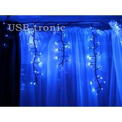 Гирлянда Бахрома 3 метра 30-50 см 240 LED Фейерверк синих мерцающих огней