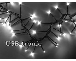 """Яркая светодиодная гирлянда """"Белый Фейерверк"""" 384 LED 7 метров"""