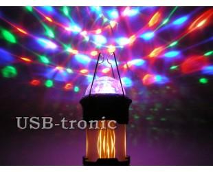 Кемпинговый фонарь Jia Hao JH-5885 Цветомузыка и Пламя Magic Cool Flame Lamp Складной корпус