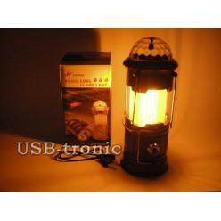 Кемпинговый фонарь Jia Hao JH-5885 Цветомузыка и Пламя Складной корпус