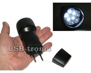 Светодиодный карманный фонарь с вилкой для зарядки от сети 220B
