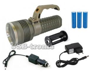 Аккумуляторный ручной фонарь мощный прожектор MX-1820-T6 Мощный светодиод Cree T6 3 x 18560 Металлический корпус
