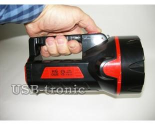 Ручной светодиодный фонарь HG-9928 на аккумуляторе с зарядкой от сети 220 В