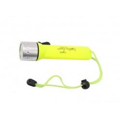 Фонарь подводный для дайвинга желтый корпус