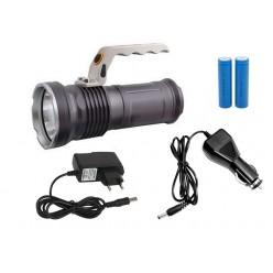 Ручной светодиодный аккумуляторный фонарь с зумом (ZOOM) T-3 2 аккумулятора 18650 Металл