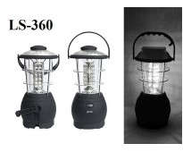 Кемпинговый фонарь с динамо LS-360 36 led на солнечной батарее